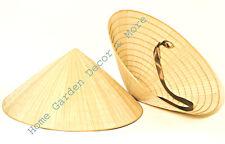 2 Oriental Vietnamese Chinese Asian Cone Garden Fishing Sun Bamboo Rice Hats