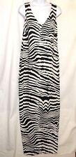 Trina Turk Dress Size 2 Black White Zebra Print Sleeveless NEW