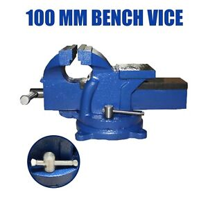 """4"""" inch Bench Vice - Table Desk Vice Swivel Base Workbench Craft Maker Tool"""