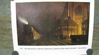 "Original Vintage Railroad Poster ""1927 The Broadway Limited"" Harold Brett #14"