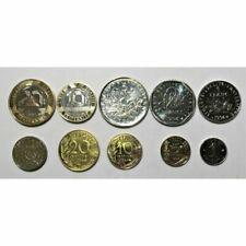 Boîtiers FDC, BU, BE de pièces de monnaie françaises pour 1 centime