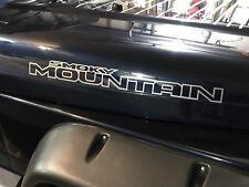 Jeep Wrangler JK Smoky Mountain edition Hood Decals Vinyl Sticker Pair
