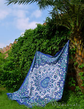 Boho bedding PSYCHEDELIC Blue indian mandala tapestry hippie bohemian tapestries