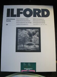 Ilford Multigrade IV FB Fiber MGF.1K Photographic Paper 50 Sheets 11x14