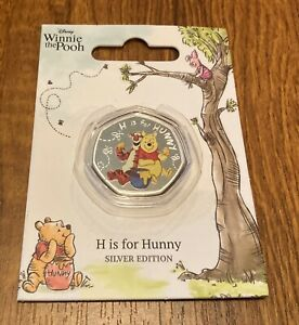 Disney Winnie the Pooh  H is for History  coin silver Edition
