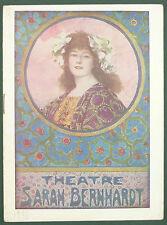 PROGRAMME DU THEATRE SARAH BERNHARDT - 1924 - MON CURE CHEZ LES RICHES