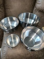 4 Vintage Stainless Steel Made In Korea Mixing Bowls