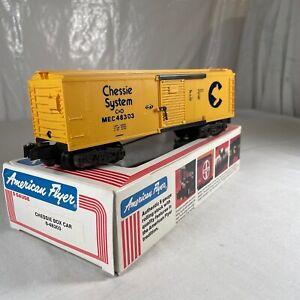 American Flyer # 6-48303 S Scale Chessie Boxcar In Original Box