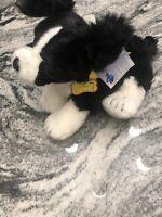 "Build a Bear Dog Border Collie Plush Stuffed Animal Cheerleader Barking 18"" BAB"