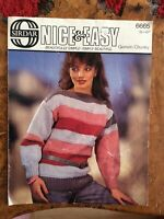 Womens knitting patterns.jumpers.size 32-42 inch bust.Chunky.Easy pattern.Sirdar