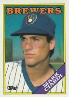 FREE SHIPPING-MINT-1988 Topps #417 Mark Ciardi Brewers -PLUS BONUS CARDS