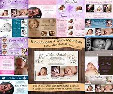20 Einladungskarten oder Danksagungskarten - Konfirmation Geburt Hochzeit Taufe