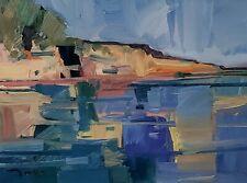 JOSE TRUJILLO Oil Painting IMPRESSIONISM LAKE MODERN CONTEMPORARY LANDSCAPE
