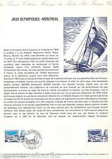 DOC. PHILATÉLIQUE - JEUX OLYMPIQUES DE MONTREAL -  1976 YT 1889