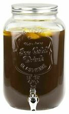 Home Basics NEW 2 Gallon Iced Beverage Glass Drink Dispenser - BD44951