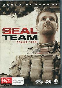 SEAL Team Season Three Third DVD NEW Region 4 David Boreanaz
