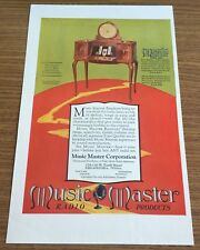 "Vintage Advertisement 1925 ""Music Master Radio Products"""