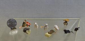 Lot of Mice & Rats Dollhouse Miniature 1:12