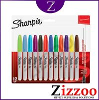 SHARPIE MARKER PENS - PERMANENT FINE POINT PACK OF 12 - ASSORTED - 6000 + SOLD!