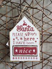 Heaven Sends Christmas 'Santa please stop here' Scandi changeable sign