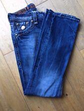 Rock Revival - Men's 34R Blue Denim faded straight jeans