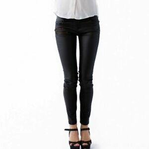 Women Ladies Collier Bristow black coated trouser