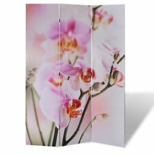 # Large Folding 4 Panels Room Divider Screen Solid Wood Print Flower Privacy 160