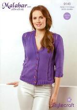 de8436728d3c3 Stylecraft 9140 Knitting Pattern Ladies Cardigan in Malabar Aran