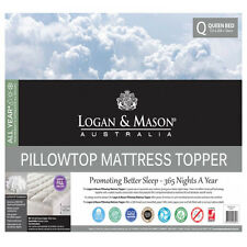 Logan and Mason Pillowtop Mattress 100% Cotton Casing Topper Single Bed SIZE NEW