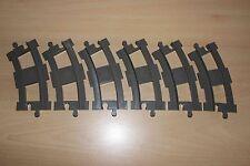 Lego Duplo Eisenbahn Train Set 2735 - 6x Curved Rails dark( old ) gray color