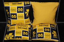 MICHIGAN WOLVERINES CORNHOLE BEAN BAGS Baggo Toss Tailgate Game 4 ACA Reg. Bags