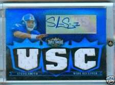 STEVE SMITH 2007 TRIPLE THREADS USC AUTO 3X JERSEY #1/3