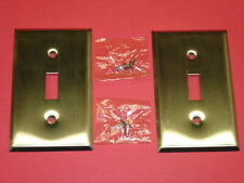 (2) NOS! BELL DELUXE SINGLE GANG STAINLESS STEEL WALL SWITCH PLATES