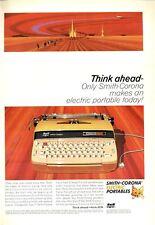 "1965 Smith-Corona ""Electra"" Electric Portable Typewriter PRINT AD"