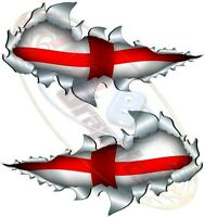 Small St George Flag England world cup Metal Rip Open Sticker Car Truck Van Bike