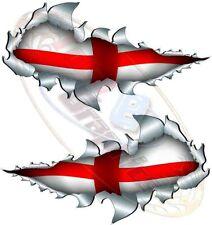 Small St George Flag England world cup Metal Rip Open Sticker Car Truck Van Bike