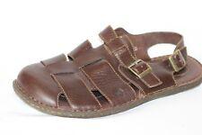 Born Brown Leather Fisherman Slingback Sandals Men's Size 14