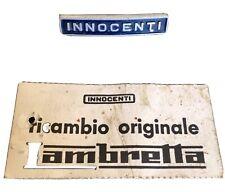 Genuine Innocenti Lambretta J Range Badge Bomisa J50 Cento J125 J125 M4