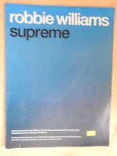 Robbie Williams - Supreme sheet music piano vocal guitar