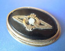Vintage Russian USSR Soviet Old jewelry Gold Plated Silver 875 BROOCH Pin marked
