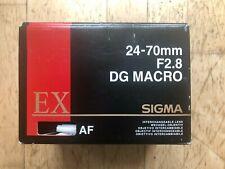 Sigma 24-70mm F2.8 EG DX MACRO lens for Nikon