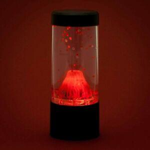 Red Lava Erupting Mini Volcano LED Lamp Mood Night Light Novelty Desktop Light