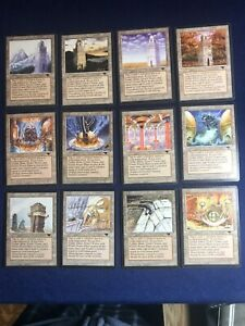 MTG Antiquities Set of All 12 Urza's Lands C1 and C2 L Mint/Near Mint 1994