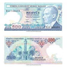 Turkey 500 Lira 1970 (1983) P-195 Banknotes UNC