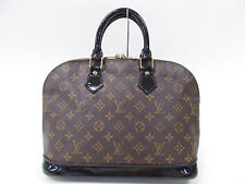 LOUIS VUITTON Alma Coated Custom Hand Bag color Black Noir Design 12