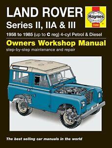 Land Rover Series IIA 2A & III 3 Petrol 2.25 & Diesel Haynes Manual 5568