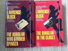 "2 Lawrence Block ""Bernie Rhodenbarr"" mysteries: STUDIED SPINOZA, IN THE CLOSET"