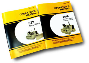 SET JOHN DEERE 2010 CRAWLER TRACTOR & BULLDOZER OWNERS OPERATORS MANUAL DOZER