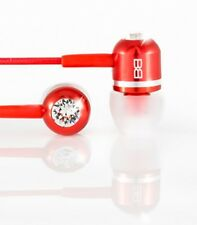 Bassbuds Classic Red, Travel Earbuds Headphones, Swarovski
