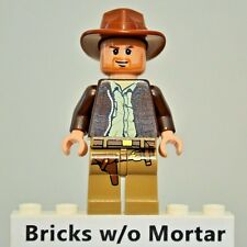 New Genuine LEGO Indiana Jones Minifig Indiana Jones 7627 7628 7683